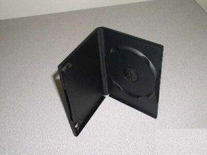 200 SINGLE DVD CASES W/LOGO, BLACK - PSD10