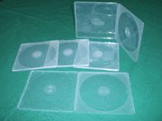 100 5MM ULTRA SLIM CLEAR DOUBLE  CD/DVD POLY CASES JS111