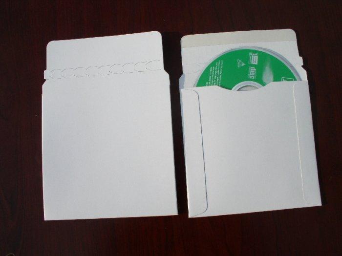 50 CARDBOARD CD/DVD MAILER W/SEAL, SEAM & FLAP - JS93