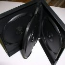50 QUAD (4) DVD CASES, BLACK - PSD70