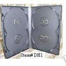 50  OVERLAP QUAD DVD CASES - DH1 - Holds 4 Discs!