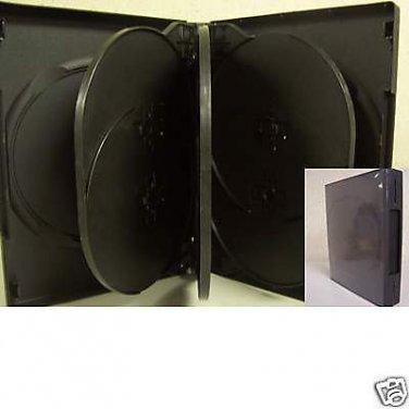 240 EIGHT 8 DISC DVD CASE, BLACK - SF003 - WHOLESALE