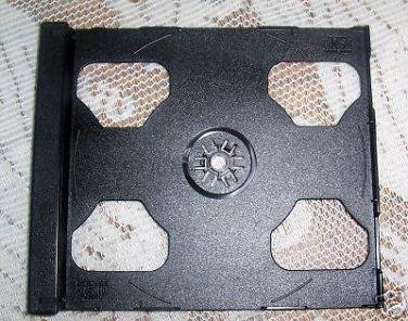 800 DOUBLE CD SMART TRAYS BLACK - 2CDSMTRAY