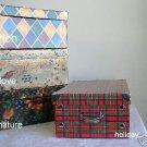 12 MEDIUM STORAGE BOXES, RICH PATTERN