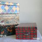 12 MEDIUM STORAGE BOXES, LOVE PATTERN