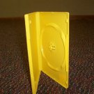 100 NEW STANDARD DVD CASES, YELLOW Opaque - BL70