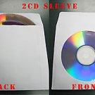 100 White Triple 3 disc CD DVD Paper Sleeve JS215