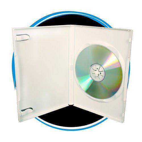 100  14mm Single White DVD Cases D14SDWHI