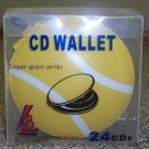 80 SPORTS CD WALLETS - HOLDS 24 CDS EACH - TENNISBALL