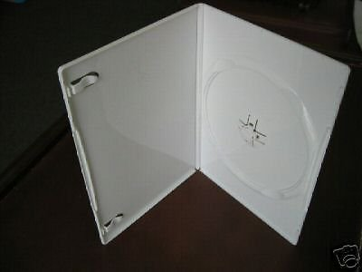 100 NEW SLIM 7MM SINGLE DVD CASES, WHITE  PSD16