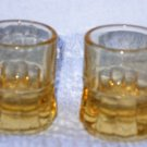 Shot Glasses Pair Beer Mug Style Yellow Glass Color