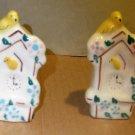 Bird Clock House Salt & Peppers