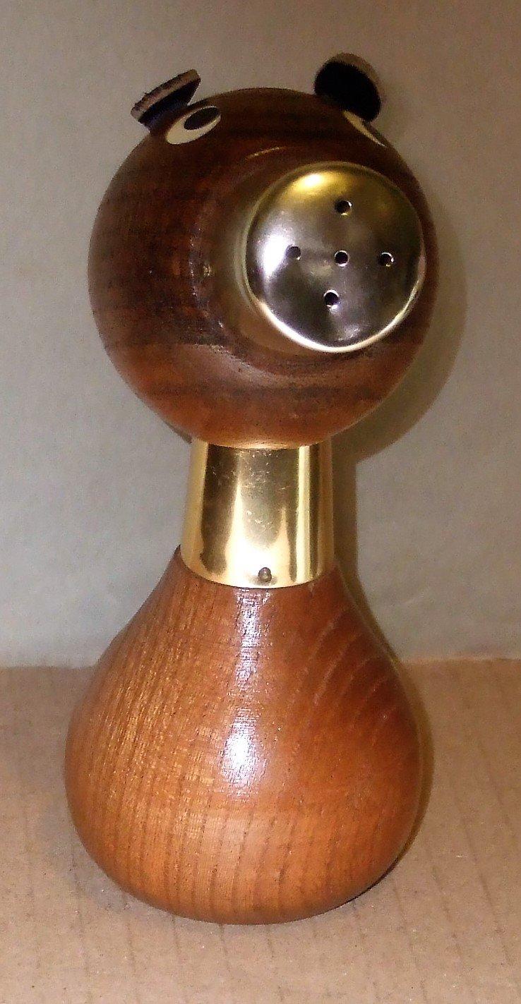 Vintage Wooden Dog Salt & Pepper