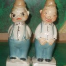Rare vintage Turnabout Salt  Pepper Shaker Two Face Happy/Mad Man