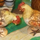 Vintage Lefton Thanksgiving Roster Chickens Salt Shaker