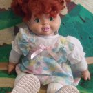 "Play By Play Talking Tots 1996 Vinyl/Cloth 15"" Doll With Red Hair Green Eyes"
