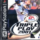 TRIPLE PLAY 2001 PS1 PLAYSTATION 1 BLACK LABEL COMPLETE