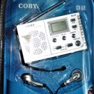 Coby Cx-53 Digital Display AM/FM Radio ~ Alarm Clock Speaker ~ Headphones