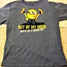 """""""Out of my mind""""Back in 5 minutes Minions Mens blue"""