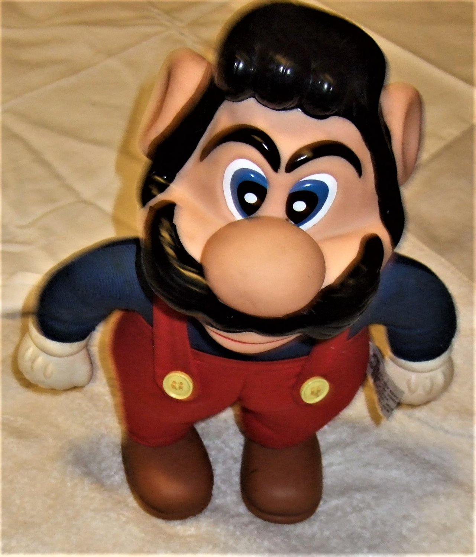"1989 Super Mario Plush stuffed doll no hat 13.5"" tall"