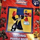 Transformers SLIDING PUZZLE BOOK~PLUS 4 BOARD PUZZLES W/STORYBOOK