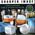Cube & Sphere Ice Molds From Sharper Image