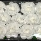 Beautiful White Silk Flowers 1 Dozen White Rosebuds with Green Stems - 12 Flowers