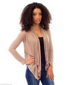 Gorgeous Lace Back Lightweight Wrap Sweater Drape Cardigan - Taupe Tan Khaki