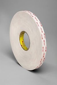 "3M VHB 4952 Double Coated Acrylic Foam Tape White 45 mil x 3/4"" x 36 yd Roll"