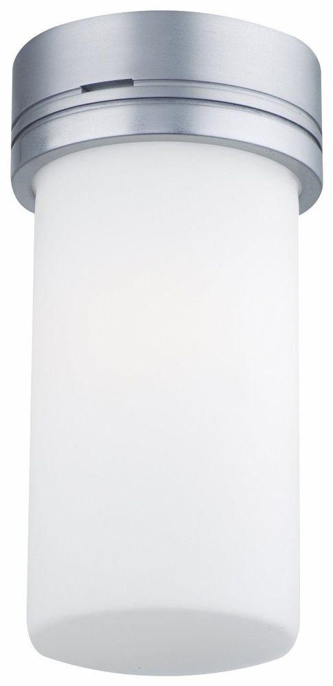 Forecast Lighting F6078-59U Flush Mount Ceiling Light Satin Alum Etched Wht Opal