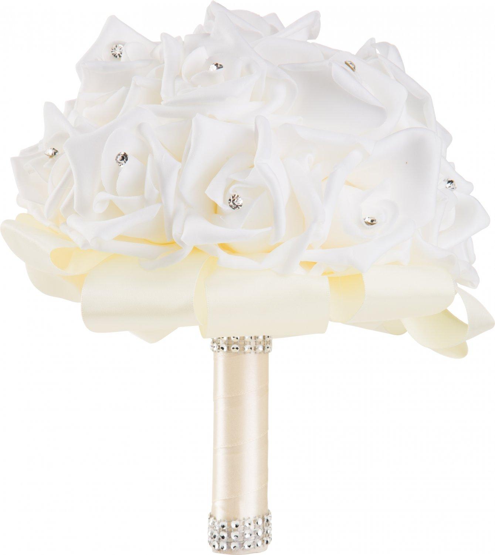 Handmade Ivory Wedding Bouquet by WorldofWeddings