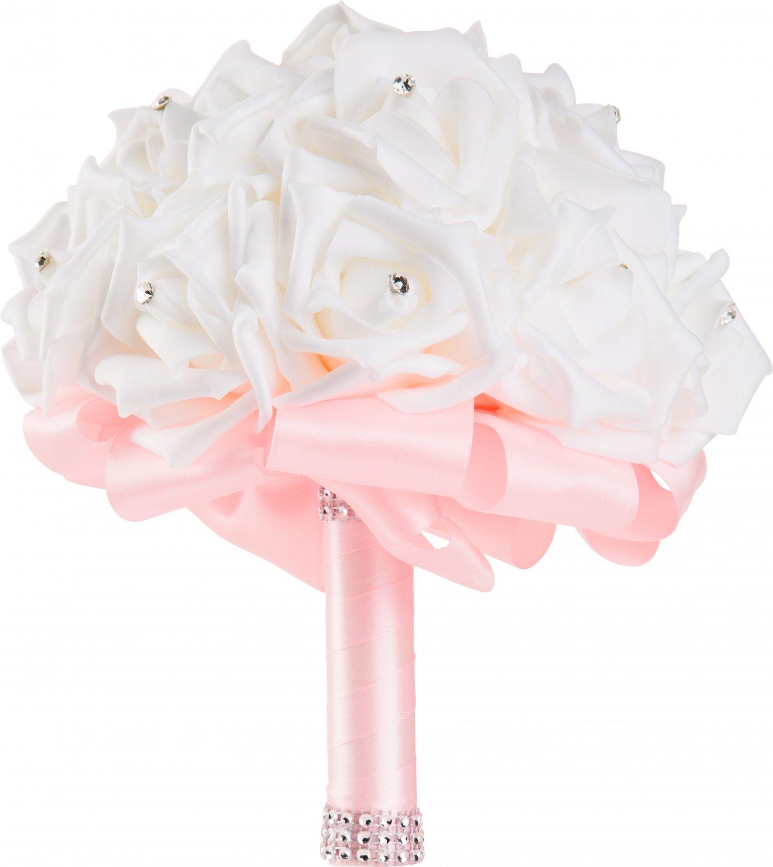 Handmade Light Pink Wedding Bouquet by WorldofWeddings