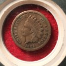Civil War Dated Indian Head Penny In Collectors Box.