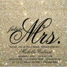 Invitation | Gold Glit Fab future Mrs. Bridal Shower  (Qty 10)