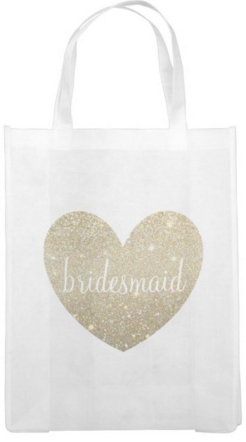 Reusable Tote Bag - Heart Fab Bridesmaid