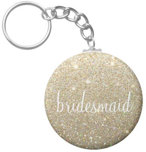 Keychains - Gold Fab Bridesmaid (Qty 5)