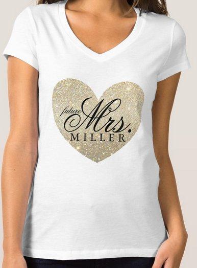 T-Shirt -  Heart Fab future Mrs.