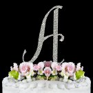 Large - Swarovski Crystal Alphabet Wedding Cake Toppers