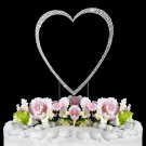 Large - Swarovski Crystal Heart Wedding Cake Topper
