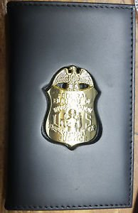 FBI Badge Cut-Out Wallet to hold Dual ID Cards - (Badge Not Included)