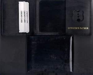 NYPD-Style Mini Badge Officer's Father Wallet holds money/cc/mini - w/Gift Box