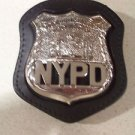 NYPD-Style Officer's Badge Cut-Out Belt Clip - (Badge Not Included)