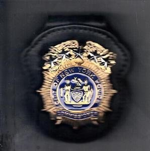 NYPD-Style Commissioner's Badge Cut-Out Belt Clip - (Badge Not Included)