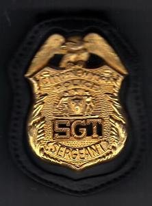 NYPD-Style Sergeant's Badge Cut-Out Belt Clip - (Badge Not Included)