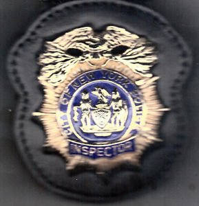 NYPD-Style Inspector's Badge Cut-Out Belt Clip - (Badge Not Included)