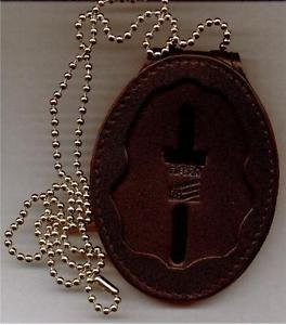 Drug Enforcement Administration DEA Badge Cut-Out Belt Clip/Neck Hanger Combo