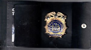 NYPD-Style-Chief of Detectives Snap Wallet (Badge Not Included)