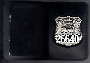 NYPD-Style-Officer Badge Shield/ID Wallet (Badge Not Included)