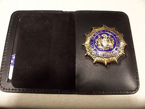 NYPD-Style-Lieutenant Cut-Out Badge Shield/ID Wallet (Badge Not Included)