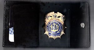 NYPD-Style-Commissioner Snap Wallet (Badge Not Included)